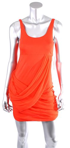ALICE + OLIVIA POPPY TANK DRESS W/ DRAPED SKIRT Size Medium  Retail: $220  PlushAttire.Com Price: $76.90  65% OFF RETAIL!  #fashiondeals
