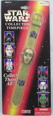 C-3PO Watch in blister card packaging.