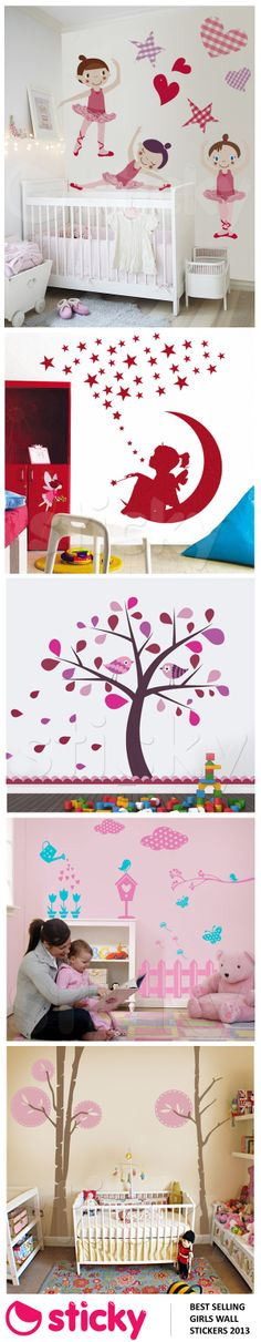 STICKY - Our most popular GIRL'S room wall stickers for 2013 based on sales!