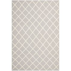Safavieh Hand-woven Moroccan Dhurrie Grey Wool Rug (8' x 10') | Overstock.com Shopping - The Best Deals on 7x9 - 10x14 Rugs