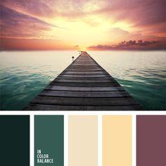color azul marino, color esmeralda, color lila azulado, color puesta del sol, color verde oscuro, combinaciones de colores, elección del color, lila y verde, selección de colores para el diseño.