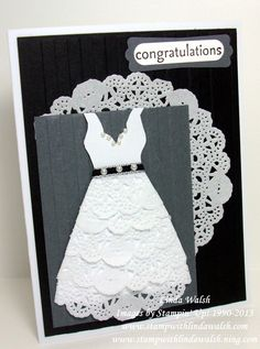 This card uses the Tea Lace Doilies from Stampin' Up!  The tutorial and video is in the online classroom at www.stampwithlindawalsh.ning.com