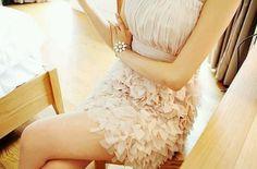 Nude color dress..