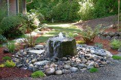 Wasserfall Im Garten Brunnen Garten Wasser Steine