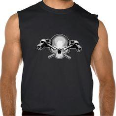 Skull and Ratchets Sleeveless Shirt Tank Tops