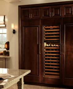 Sub-Zero and Wolf's integrated appliances have no visible hinges or grilles, and the fronts can accommodate anything from stainless steel panels and handles to custom panels to match your own cabinetry and hardware.
