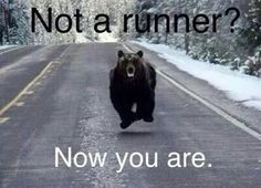 Olympic caliber sprinter, bear, runner, lol