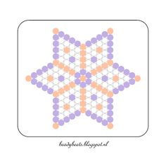 Beady Beads - Star 5b. Perler / Hama / Fusion / Melty / Pyssla Beads. Free Pattern Card! Visit my blog for more free patterns.