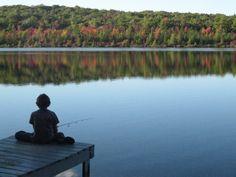 Aidan fishing Mud Pond