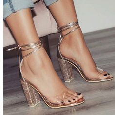 Shop Women's size Various Heels at a discounted price at Poshmark. Description: Women's chunky heels - Rhinestones and Metallic trim. Sparkly Heels, Prom Heels, Strappy Sandals Heels, Lace Up Heels, Ankle Strap Heels, Pumps Heels, Stiletto Heels, Ankle Straps, Gold Sandals
