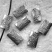 Korálky - Kov.korálka 9x15mm-plat-1ks - 3721274