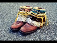 DIY: boho boots    I'm already thinking of boots I have that I can try this with...