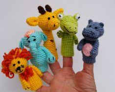 Crochet Nativity Finger puppets Christmas toy by FunnyAmiToys