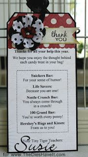 Thank you for volunteers - such a cute idea for advisor and volunteer appreciation!