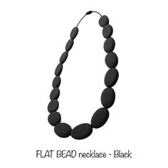 Nibbly Bits Flat Bead Silicone Necklaces are our original design, a great statement piece of jewellery and will have you looking and feeling fabulous in no time at all.  http://www.smallsmallworld.com/estore/flat-bead-necklace-p-576.html