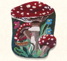 Toadstool Rug by one of my favorite artists Nathalie Lete