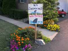 Cute Shark Party signs, via Flickr.