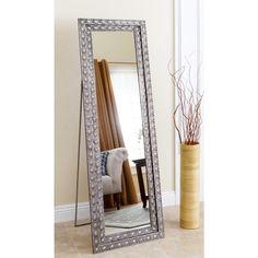 Crackled Mother-of-Pearl Floor Mirror | Random Decor | Pinterest ...