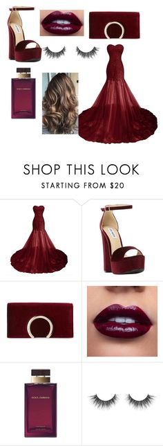 """alia"" by aliaalsadoon ❤ liked on Polyvore featuring Steve Madden, Jessica McClintock and Dolce&Gabbana"