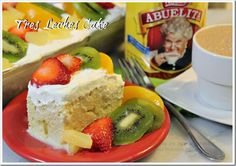 Tres Leches Cake and Hot Chocolate Abuelita. Mexican Recipes #Nuestro Sabor