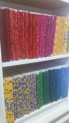 Original Size Polar Notions for 1 yard cuts of fabric or more. Ask for them at your LQS! Polar Notions Mini Bolt Fabric Organizers are acid free and fit on an average book case! Sewing Room Organization Fabric Storage  Fabric Stash PaperPieces.com Polar Notions