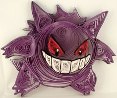 Paper Quilling Gengar - 094 by wholedwarf