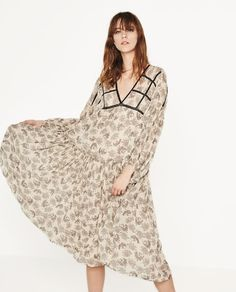 Image 1 of PRINTED TUNIC DRESS from Zara