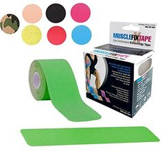 Green MUSCLE FIX Kinesiology Recovery Sports Athletic Injury Therapeutic Support Tape Precut PRO Kinesio KT Roll (20 Strips 10 in X 2 In / 25 cm x 5 cm) Shoulder Knee Lower Back >>> See this great product.