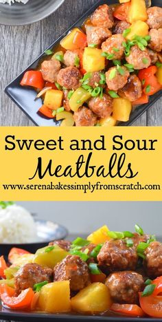 The BEST recipe for Sweet and Sour Meatballs! The kids were literally ...