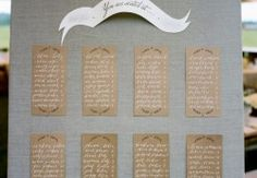 Escort card board