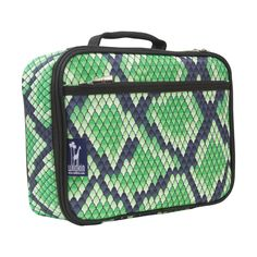 Insulated lunch box that looks like fake snake skin (for kids or for you?)