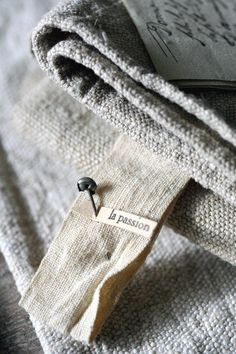 French Hemp Linens- Love the Texture of these...