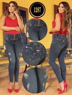 Jeans Levantacola Colombiano - Ref. Pretty Brunette, Boutique, Capri Pants, Women's Fashion, Fitness, Girls, Model, Flare Leg Jeans, Women's Jeans