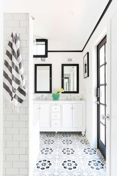 Thank goodness, Stefani covered it in clean, timeless subway tile.