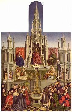 """""""The Fountain of Grace"""" or """"The Triumph of the Church over the Synagogue,"""" Flemish, c. 1450."""