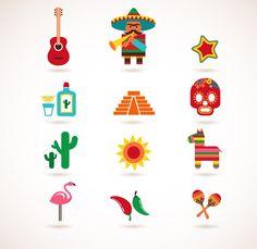 Cartoon Mexican specialties icon - vector material