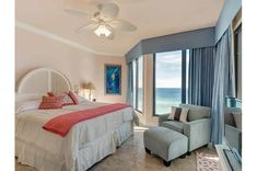 Beautiful bedroom with an amazing view at Navarre Towers Us Beaches, Florida Beaches, Navarre Beach Florida, 3d Home, Beach Condo, Rental Property, Beautiful Bedrooms, Condominium, Towers