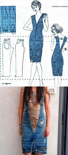 Upside Down Jeans Dress Is So Easy To Make   The WHOot