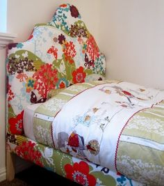 All Things Campbell: Ivy's Upholstered Bed