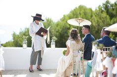 outdoor ibiza wedding, parasol