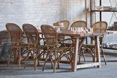 ROSSINI krzesła rattanowe ze stołem LUKAS Willow House