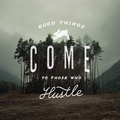 Hustle  – typography quote print by Jeremy Vessey #design #inspiration