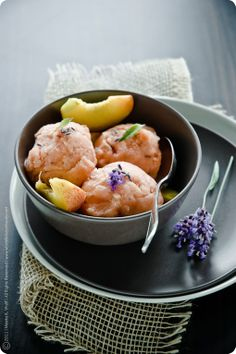 Another from my fave food blogger... Peach and Lavender Sorbet