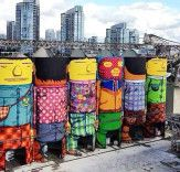 Giants: Os Gemeos Convert Six Enormous Silos into Awesome Works of Colorful Street Art in Vancouver | Inhabitat - Sustainable Design Innovation, Eco Architecture, Green Building