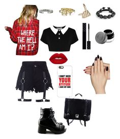 F U by tavarezstyles8 on Polyvore featuring polyvore, fashion, style, Killstar, Bling Jewelry, Wendy Nichol, Alisa Michelle, Casetify, Becca, Gucci, Lime Crime, Static Nails, Jac Vanek and clothing