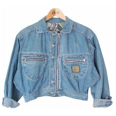 90s cropped denim jacket, oversized faded washed jeans coat, pastel... ($37) ❤ liked on Polyvore featuring outerwear, jackets, tops, shirts, oversized jacket, blue jackets, blue denim jacket, hippy jacket and gothic jacket