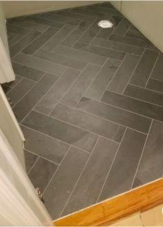 Herringbone Tile, Slate Flooring, Bathroom Floor Tiles, Kitchen Flooring, Flooring, Bathrooms Remodel, Laundry Room Flooring, Room Flooring, Herringbone Tile Floors