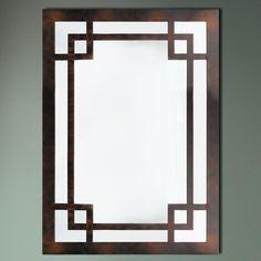 ID 361 BG Greek Key Framed Mirror