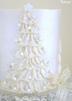 White Chocolate Ganache Tree! Member Video Library - MyCakeSchool.com