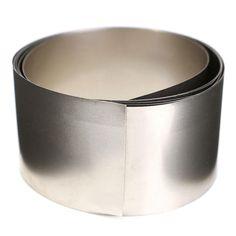 99.96% Pure Nickel Metal Foil Silver Gray Ni Plated Thin Sheet 0.1x30x1000mm